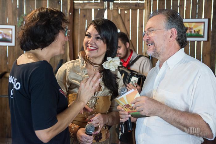 Durante os preparativos para a gravação com a Renata Bairros (Foto: Tiago Giannichini/ICPJ)