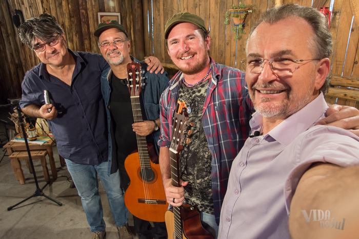 #SelfieDoGringo com Neudo Oliveira, Pedro Munhoz e Joca [da direita para esquerda] (Foto: Tiago Giannichini/ ICPJ)