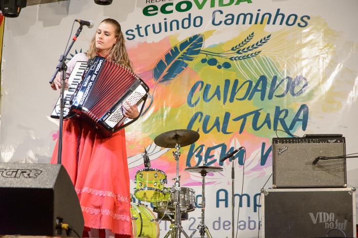 Carol do Acordeon no Vida no Sul (Foto: Marcelo Ferreira/ICPJ)