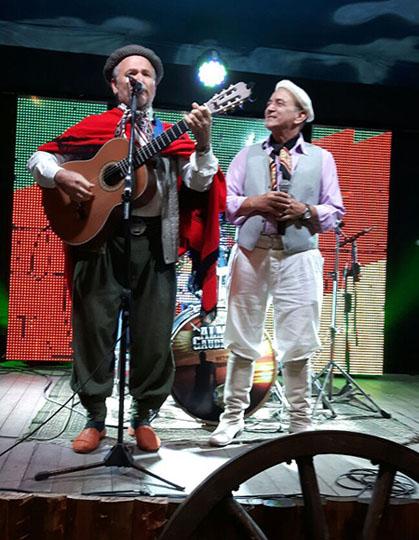 Antônio Gringo participando da gravação do programa do Odilon Ramos
