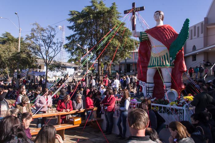 Santo Expedito do Sul em festa (Foto: Marcelo ferreira/ICPJ)