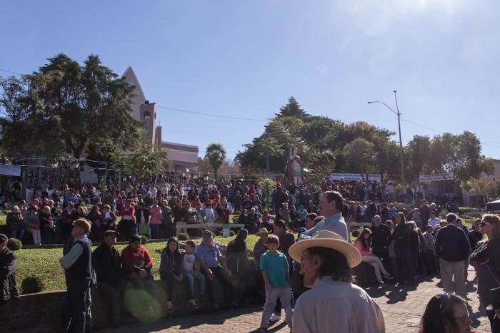 Município de Santo Expedito do Sul em festa (Foto: Marcelo ferreira/ICPJ)