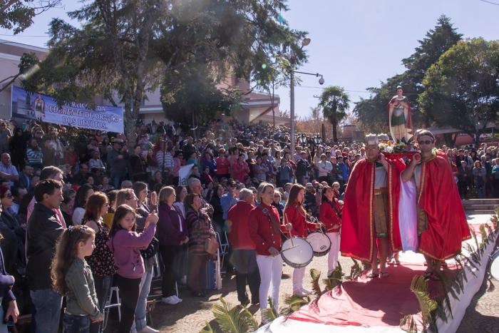 Mística de acolhida de Santo Expedito (Foto: Marcelo ferreira/ICPJ)