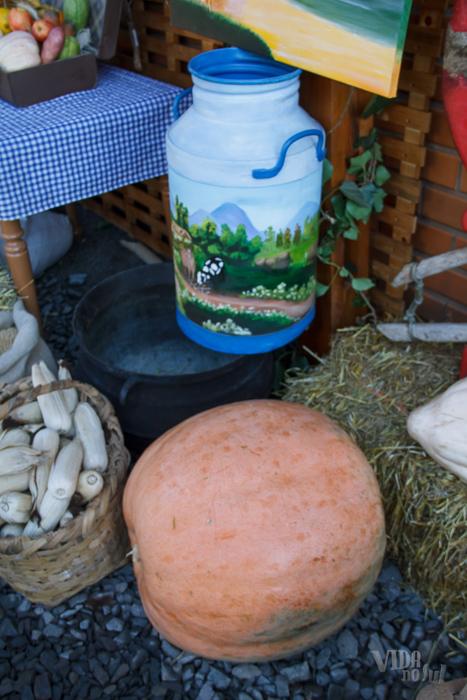 Frutos gigantes produzidos em Charrua atraíram atenção dos curiosos durante a festa (Foto: Marcelo Ferreira/ICPJ)